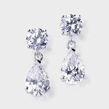 cubic zirconia earrings cubic zirconia earrings the gift birkat elyon