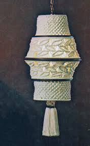 pdf macrame hanging swag lamp pattern vintage retro home decor