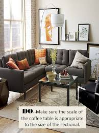 How Big Should Rug Be In Living Room Design Guide How To Style A Sectional Sofa Confettistyle