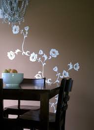 bedroom wall stencil ideas dining room decoration with foral