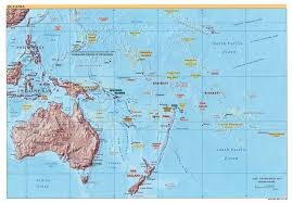 map of australia and oceania countries and capitals large detailed political and relief map of australia and oceania
