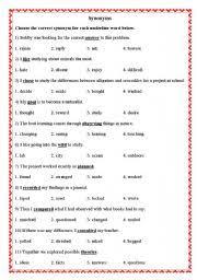 esl worksheets for beginners synonyms u0026 antonyms