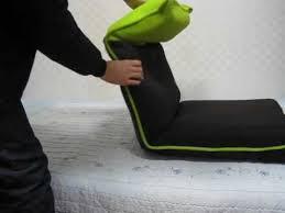 cozy head adjustable mesh foldable floor chair back recline lazy