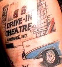 Oklahoma travel tattoo images Route 66 tattoo man in oklahoma jpg