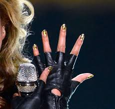if you thought beyonce u0027s gold super bowl nails were cool you must