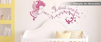 sticker mural chambre fille stickers mural chambre enfant il était une fois une fée