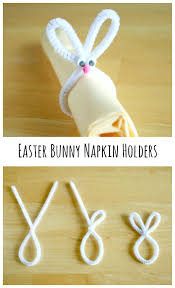 easter napkin rings easter bunny napkin holders make and takes