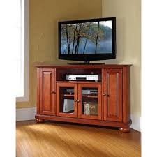 Modern Corner Tv Stands For Flat Screens 4d Concepts Cherry Swivel Top Entertainment Center 08699 The