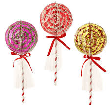 raz sprinkles 10 inch lollipop ornaments shelley b home and