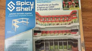spicy shelf patented spice rack and stackable organizer youtube
