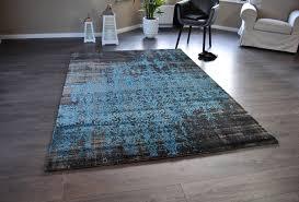 teppiche design hochwertiger design teppich relief tf 15 schwarz blau 160 x 230 cm