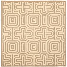 Square Indoor Outdoor Rugs Safavieh Courtyard Brown 6 Ft 7 In X 6 Ft 7 In Square