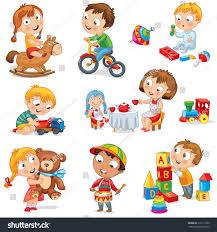 children play toys stock vector 116111830