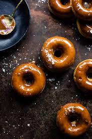 baked salted caramel apple cider doughnuts half baked harvest
