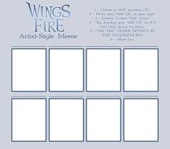 wings of fire artist style meme template by xthedragonrebornx on