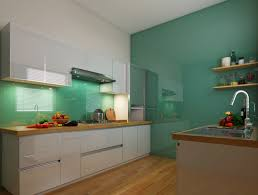 lacquered glass kitchen cabinets mint green and white kitchen combination kitchen shutters
