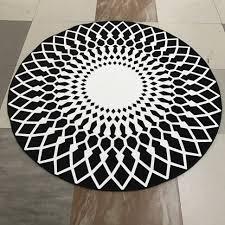 Round Outdoor Rugs by Floor Rug Black White Outdoor Rug Tayse And Stripe Rugblack
