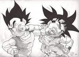 dragon ball gt goku jr vs vegeta jr by chechoillanes on deviantart