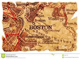 Maps Boston Boston Old Map Royalty Free Stock Photography Image 15657737