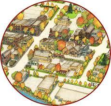 Birds Eye View Map Jim Bohnhoff Design