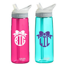 bow monogram big or bow monogram camelbak water bottle cus connection
