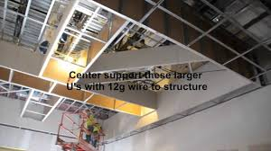 Suspended Drywall Ceiling by Armstrong Official Drywall Grid Bulkhead Soffit Installation Youtube