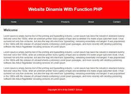 tutorial membuat web html sederhana membuat website dinamis menggunakan function