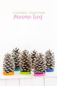 Cone Tree Colorful Christmas Scented Pine Cone Trees In My Own Style