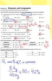 chemistry went over ch 3 study guide and started lab conclusion