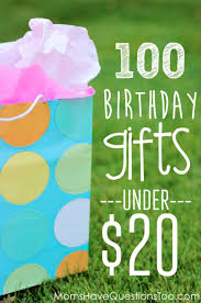 inexpensive birthday gift ideas for