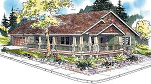 Craftsman Ranch House Plans Cottage Country Craftsman Ranch House Plan 59754