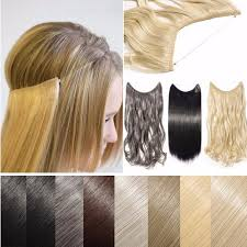 invisible line hair extensions s noilite hidden invisible wire in synthetic hair extension not