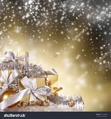 christmas gifts shining background stock photo 118278886
