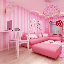 bedroom background wallpaper pvc pink child room wallpaper