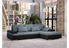 canapé d angle cuir et tissu canapé d angle convertible en tissu et cuir pu ii design