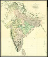 Maps Of India by Rare Large Scale Map Of India In Full Original Colour Maps