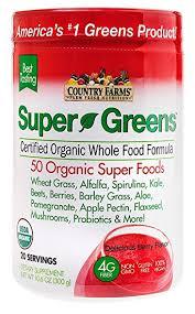 amazon com super greens drink mix berry flavor health u0026 personal