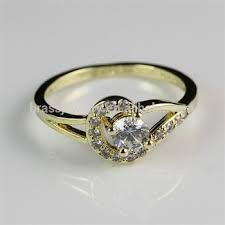 indian wedding ring high quality fashion jewelry 18k gold plated diamond indian