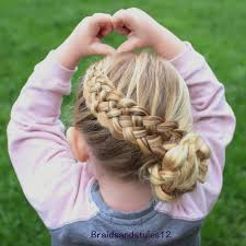 French Braid Hairstyles With Weave 40 Cool Hairstyles For Little Girls On Any Occasion Basket Weave