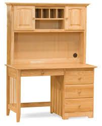 Natural Wood Computer Desk Furniture Elegant Office Desks Designs With Smart Hutch Ideas