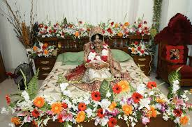 First Nite Room Decorations Sharma Flower Decorators First Night Honeymoon Bed Decoration