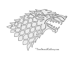 Halloween Stencils Printable by Game Of Thrones House Stark Sigil Stencil 2 Free Stencil Gallery
