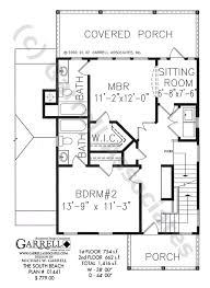 south beach house plan coastal house plans