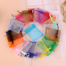 tulle bags 100pcs lot 7x9cm mixed color bolsas organza bags tulle jewelry