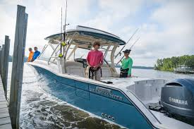 first look grady white introduces premium 32 foot dual console