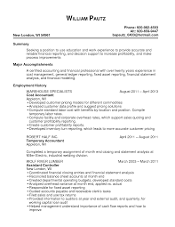 sle accounting resume resume templates manufacturing cost accountant exles sle