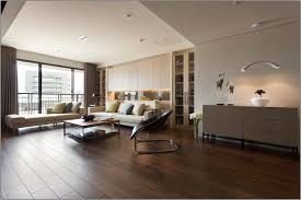 living room sophisticated apartment ideas with dark wooden floor