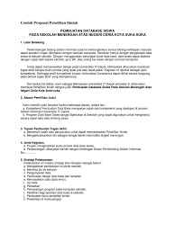 contoh membuat proposal riset contoh proposal penelitian ilmiah pdf document