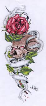 and skull with by vikingtattoo on deviantart