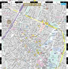 Brussels Map Of Europe by Streetwise Brussels Map Laminated City Center Street Map Of